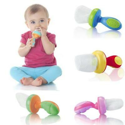 Nuby Nibbler Baby Feeding Mesh Weaning Solid Food Feeder Net Safe x1 Colour Vary