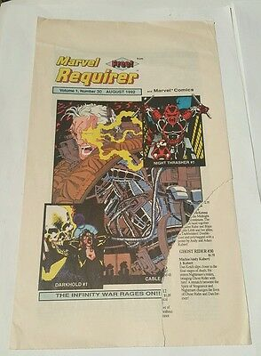 marvel requirer # 30 ,1992 cable , darkhold, night thrasher