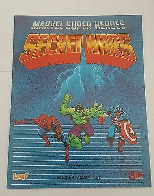 marvel super heroes  secret wars sticker album 1984 canadian