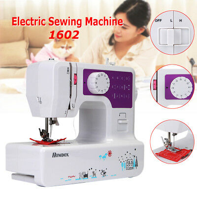 12 Stitches Multi-Function Electric Overlock Sewing Machine Household Tool w/USB