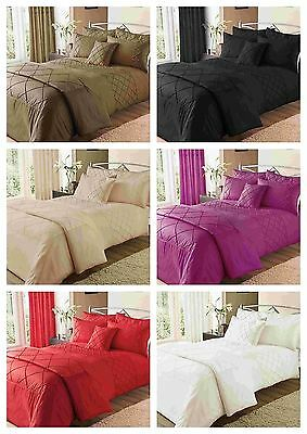Pearl Duvet Quilt Cover Bedding Set With Pillow Cases Single Double King
