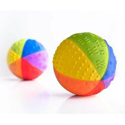 Rainbow Sensory Ball TEETHING TOY - 100% Pure Natural Rubber CaaOcho Collection