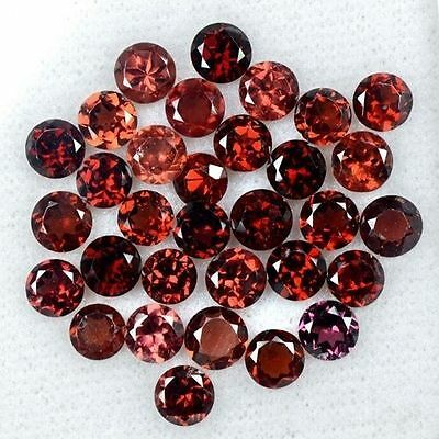 18.24 Cts Natural Top Red Garnet Round Cut Lot Mozambique Size 5 mm Loose Gem $