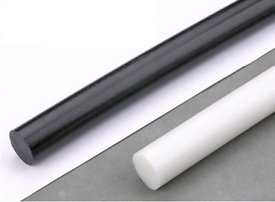 Acetal POM-C Plastic Round Rod Bar | 245mm Lengths | All Diameters