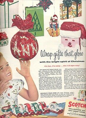 Dec. 13, 1955  Scotch Cellophand and gift wrap tapes     ad (# 4326 )