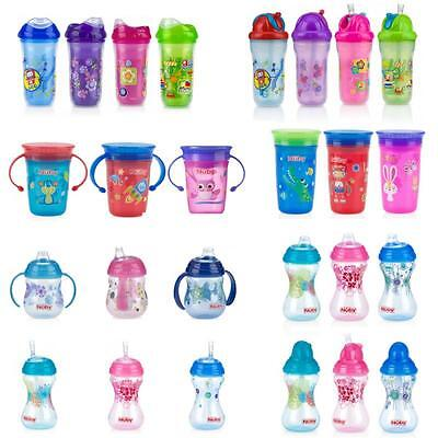 Nuby Cup Sippy Toddler Non Spill Leak Proof Straw Insulated Drinking Weaning