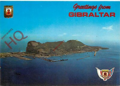 Picture Postcard-:Gibraltar, Aerial View Of Rock Of Gibraltar