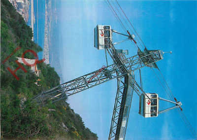 Picture Postcard:;Gibraltar, Cable Cars Approaching Mid-Station