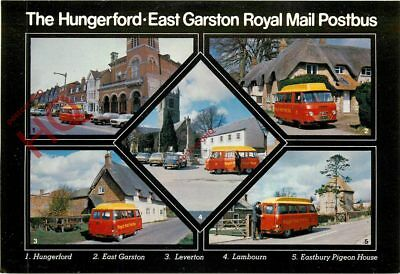 Picture Postcard, Hungerford-East Garston Royal Mall Postbus (Multiview)