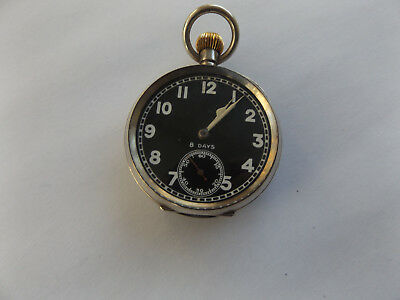 Silver Military Ww1 Pocket Watch Octava London 1918