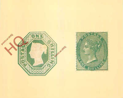 Picture Postcard~ National Postal Museum, 1 Shilling Stamp, 1847/1856