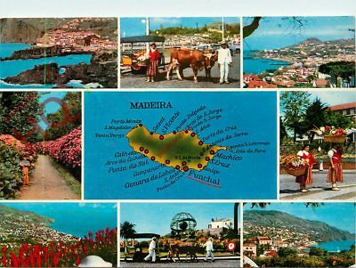 Picture Postcard~ Madeira (Multiview) Map