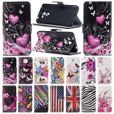 For Huawei P9 Lite Mini/P8 P10 P20 Lite Flip Painted Wallet Leather Case Cover
