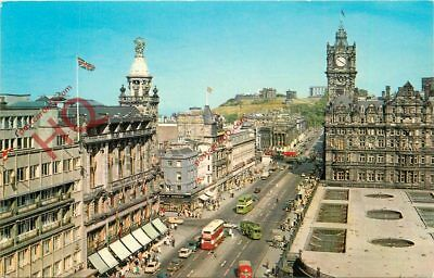 Postcard~ Edinburgh, Princes Street And Calton Hill From The Scott Monument