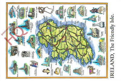 Picture Postcard--Ireland, Map