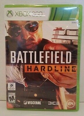 Battlefield Hardline (Microsoft Xbox 360, 2015) NEW Factory Sealed Free Shipping