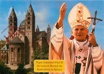 Picture Postcard, POPE JOHN PAUL II, IN SPEYER 1987, STAMPS ON REVERSE