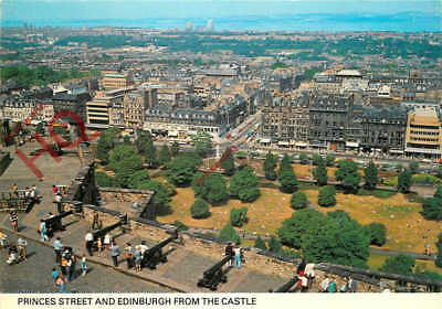 Picture Postcard-:Princes Street And Edinburgh From The Castle