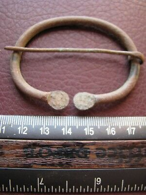 Authentic Ancient Lake Ladoga VIKING Artifact > Bronze Fibula  RJ 47
