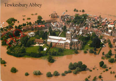 Picture Postcard- Tewkesbury Abbey, Flood Of 2007