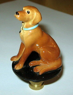 Yello Lab Lamp Finial, lamp topper, porcelain, new, dog