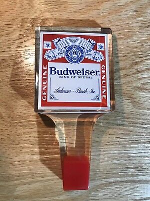 Vintage Budweiser Beer lager Tap Handle Acrylic anheuser Busch