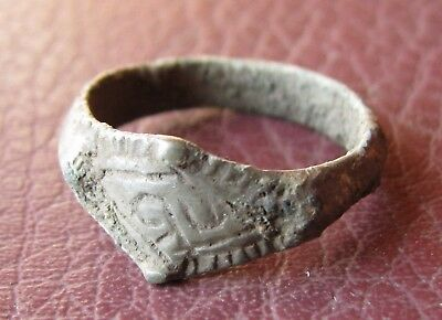 Authentic Ancient Lake Ladoga VIKING Artifact > Bronze Finger Ring  RJ 53-E