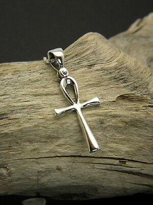 Sterling Silver Ankh Cross Pendant Egyptian cross symbol of life amulet necklace