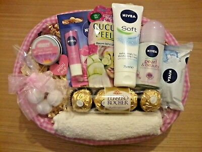 LUXURY WOMENS NIVEA PAMPER HAMPER GIFT BASKET FOR HER BIRTHDAY PRESENTMumWife