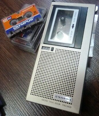 Sanyo TRC-5425 talking book voice recorder plus (3) free tapes!