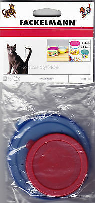 Pack of 2 Plastic Pet Cat Dog Food Can Tin Lid Covers Small 7.5cm & Large 10cm
