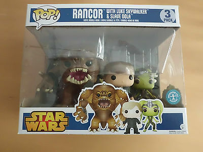 Funko POP! Star Wars Rancor 3 Pack Underground Toys Exclusiv !