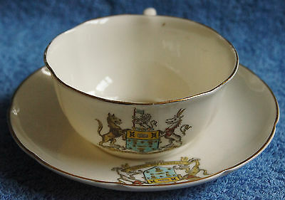 Crested China - Salford - Cup and Saucer - W.H. Goss