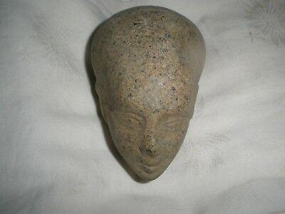 Antique Egyptian Carved Stone Egyptian Queen Nefertiti Head