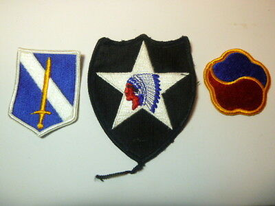 A   Lot of Three U S Army  Merrowed Edge  Patches # 1