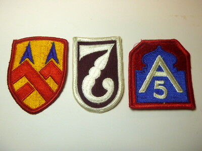 A   Lot of Three U S Army  Merrowed Edge  Patches # 2