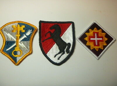 A   Lot of Three U S Army  Merrowed Edge  Patches # 3