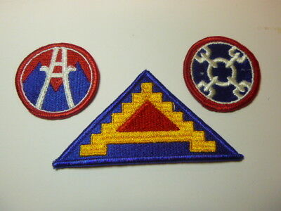 A   Lot of Three U S Army  Merrowed Edge  Patches # 6