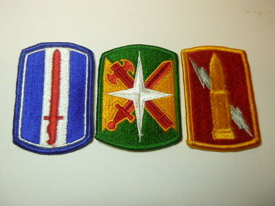 A   Lot of Three U S Army  Merrowed Edge  Patches # 9