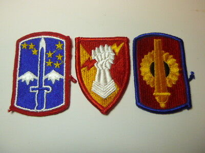 A   Lot of Three U S Army  Merrowed Edge  Patches # 10