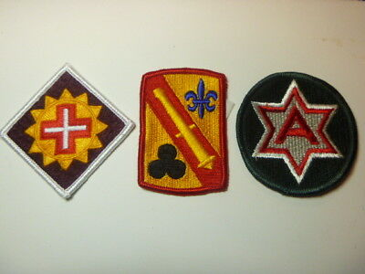 A   Lot of Three U S Army  Merrowed Edge  Patches # 11