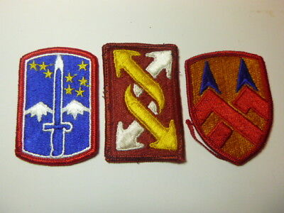 A   Lot of Three U S Army  Merrowed Edge  Patches # 19