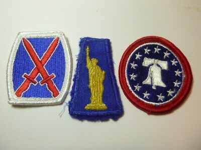 A   Lot of Three U S Army  Merrowed Edge  Patches # 20