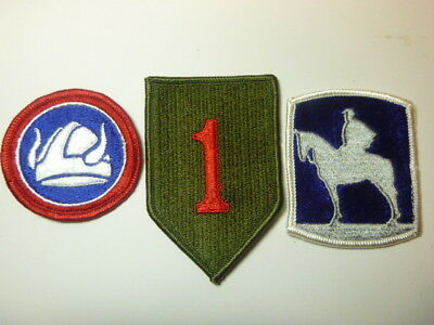 A   Lot of Three U S Army  Merrowed Edge  Patches # 22