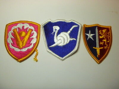 A   Lot of Three U S Army  Merrowed Edge  Patches # 25