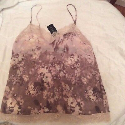 """Esmara"" Lingerie lace camisole pink-brown size L  new with tags £3 start bid!"