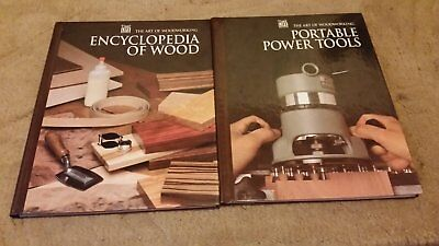 2 Time Life Books - ENCYCLOPEDIA OF WOOD - PORTABLE TOOLS  - Art of Woodworking