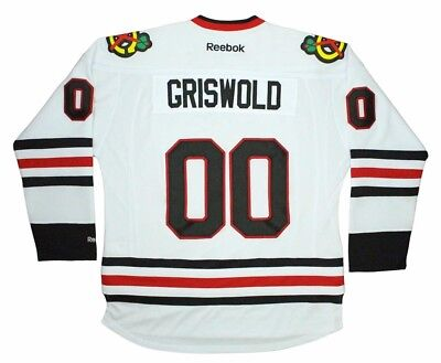 check out 51771 2933c CLARK GRISWOLD CHICAGO Blackhawks Jersey White Christmas ...