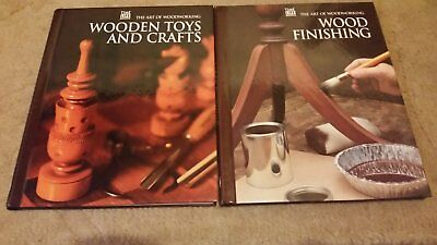 2 Time Life Books - WOODEN TOYS CRAFTS- WOOD FINIDHING - Art of Woodworking