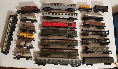 lot de train ho wagon marchandise votyageurs divers marques jouef horby marklin
